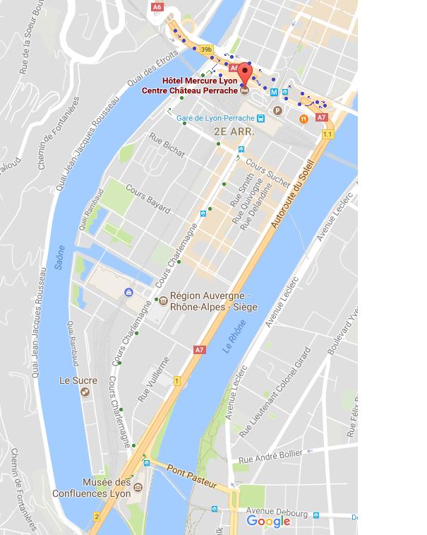 plan accès chateau perrache en voiture